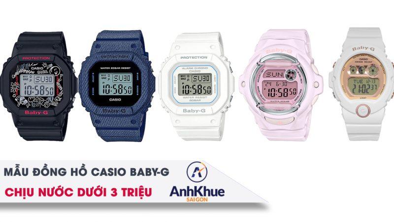 Điểm danh 5 mẫu đồng hồ Casio Baby-G chịu nước giá dưới 3 triệu đồng